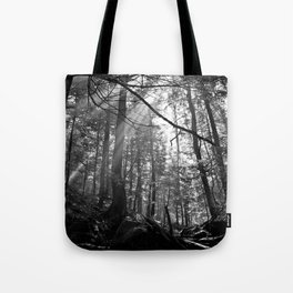 Sunrays Through the Trees Tote Bag