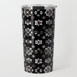 Dark Luxury Baroque Pattern Travel Mug