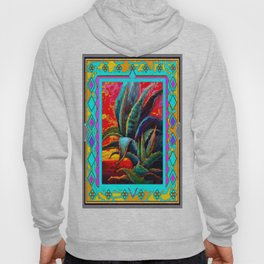 Western Style Agave Cacti Desert Sunrise Abstract Hoody