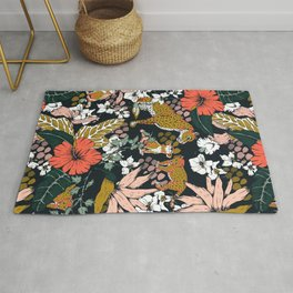 Animal print dark jungle Rug