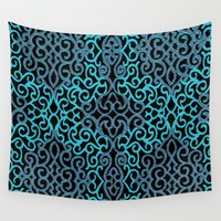 celtic Wall Tapestries featuring celtic blue by Ariadne