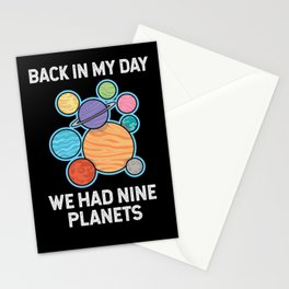 We Had Nine Planets Stationery Cards