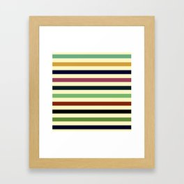 Colorful Retro Stripes Framed Art Print