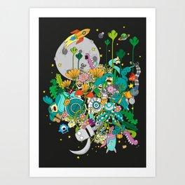 Imaginary Land Art Print