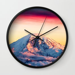 High on a Mountaintop Wall Clock