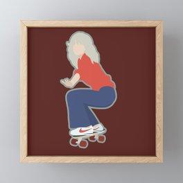 Portrait of Farrah Fawcett Framed Mini Art Print