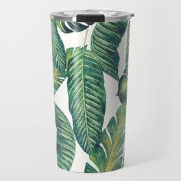 Jungle Leaves, Banana, Monstera II #society6 Travel Mug