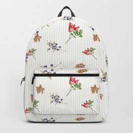 Elegant Christmas - floral spice Backpack