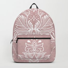 Blush pink mandala Backpack