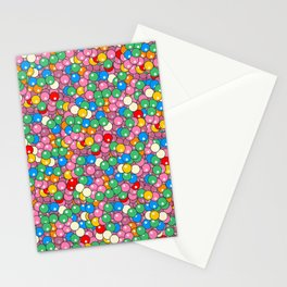 Bubble Gum Balls Juicy Tropical Fruity Stationery Cards