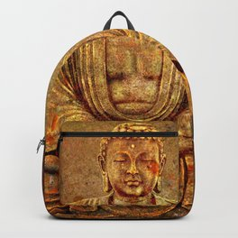 Sand Stone Sitting Buddha Backpack