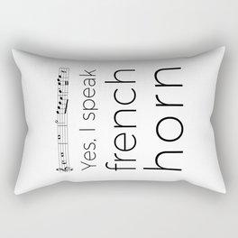Yes, I speak french horn Rectangular Pillow