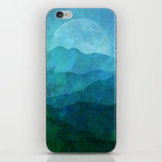 Blue Abstract Landscape iPhone Skin