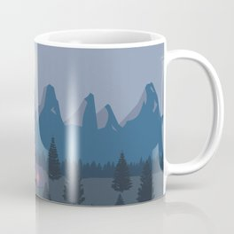 Bonfire camping in the mountains Coffee Mug