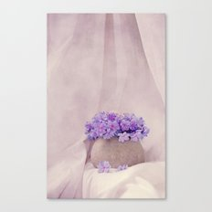poeme de violet Canvas Print