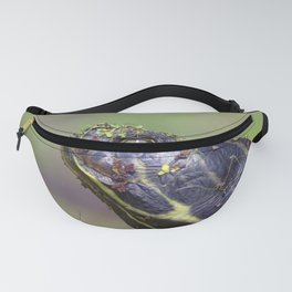 Watercolor Turtle, Eastern Painted Turtle 22, Merchants Millpond, North Carolina Fanny Pack