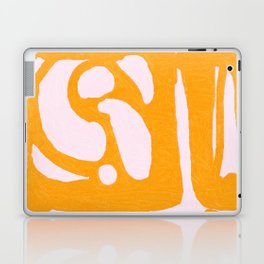 Abstract in Yellow and Cream Laptop & iPad Skin