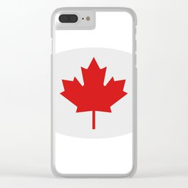 flag canada Clear iPhone Case