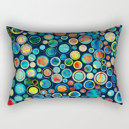 Dots on Painted Background Rectangular Pillow