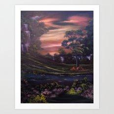 Heavenly Cascades Art Print