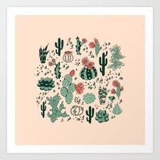 Succulent Desert Art Print