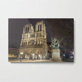 Notre Dame de Paris and Charlemagne Metal Print