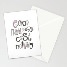 Good Manners Are Free • Pink Stationery Cards