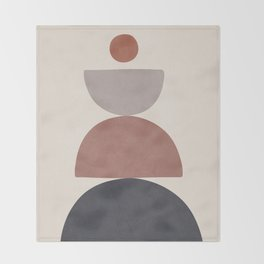 Balancing Elements III Throw Blanket