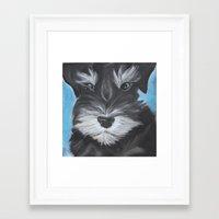 schnauzer Framed Art Prints featuring Schnauzer by Christina Zoernig