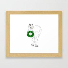 Dino made a Wreath Framed Art Print