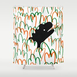 Jungle Dinosaur Shower Curtain