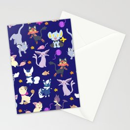 Cats - Blue Stationery Cards