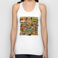 beastie boys Tank Tops featuring Beastie Boys Wow! Wow! Wow! Remix Tape Cover by Jeff Drew Pictures