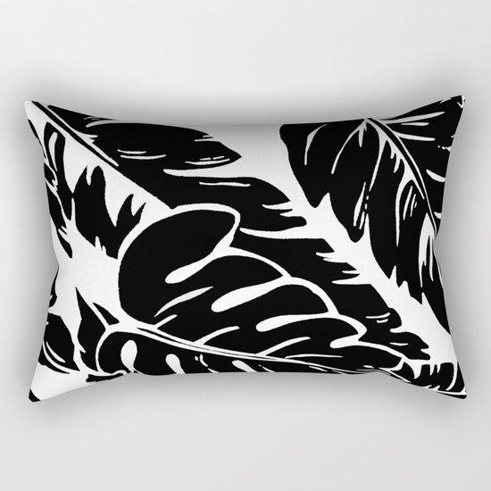 PALM LEAF BLACK Rectangular Pillow