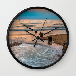 Patterns On The Beach Wall Clock