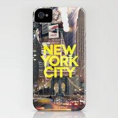 New York City II [yellow] iPhone (4, 4s) Slim Case