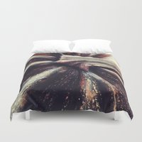 pumpkin Duvet Covers featuring PUMPKIN  by Christina Lynn Williams