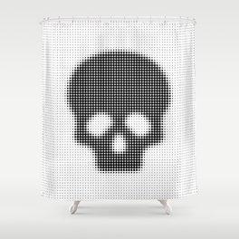 Halftone Skull Shower Curtain