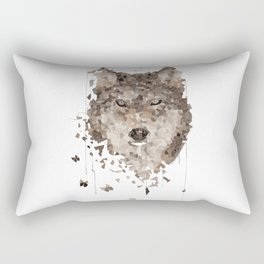 Wolf off the wall Rectangular Pillow