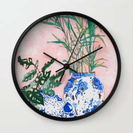 Friendship Plant Wall Clock