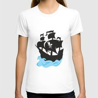 pirate ship T-shirts featuring Pirate Ship by Anthony Rocco