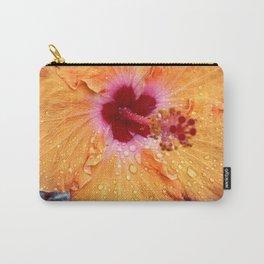 Orange Lagos Hibiscus Carry-All Pouch