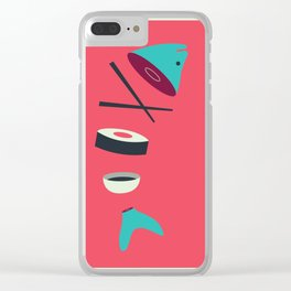 Sushi Fish Clear iPhone Case