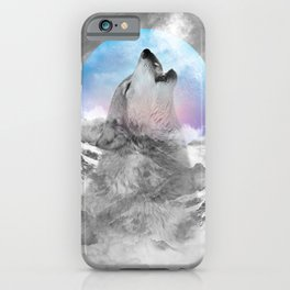 Maybe the Wolf Is In Love with the Moon iPhone Case