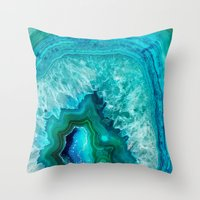 geode Throw Pillows featuring Geode by Jenna Davis Designs