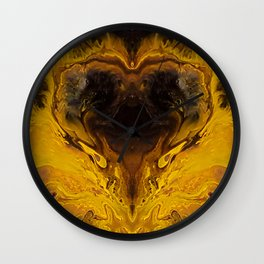 The Hunger Game, fluid acrylic Wall Clock
