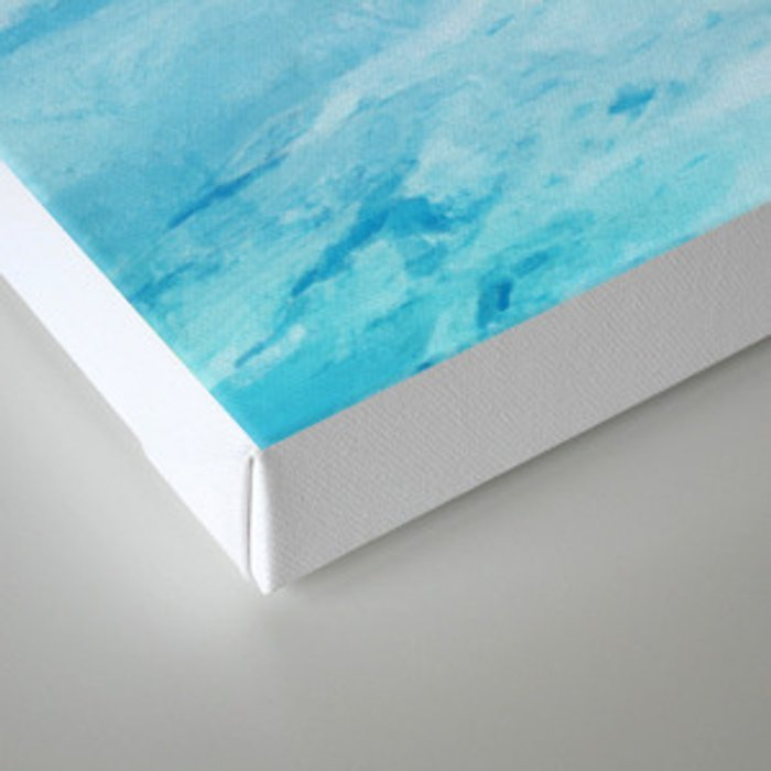 Huge and blue Canvas Print