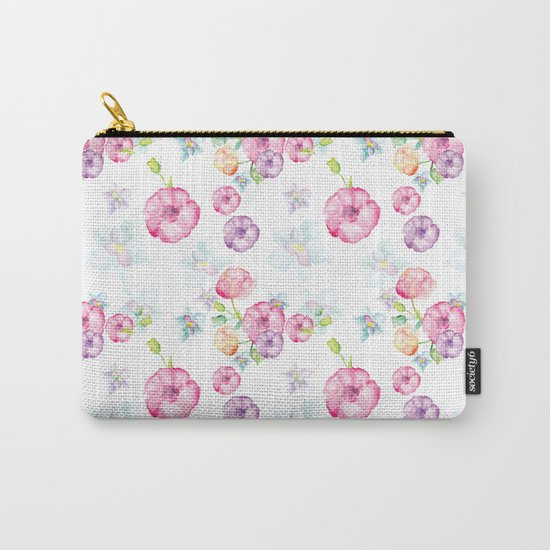 Delicate Floral Pattern 01 Carry-All Pouch