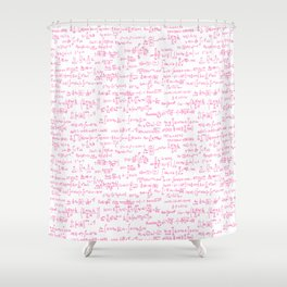 Pink Math Equations Shower Curtain