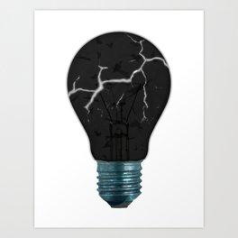 Broken Light Bulb Art Print